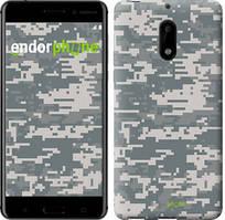 """Чехол на Nokia 6 Звёздное небо """"167c-898-535"""" Камуфляж , Серый"""