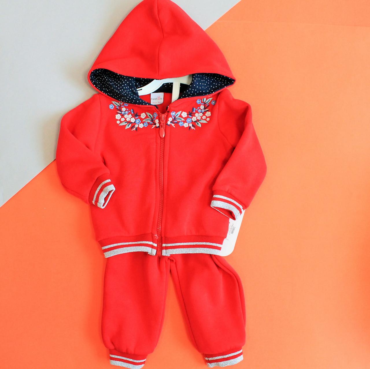 Теплый костюм с начесом для девочки  - Style-Baby детский магазин в Киеве