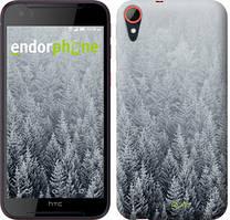 "Чехол на HTC Desire 830 Заснеженные елки ""4187c-785-535"""