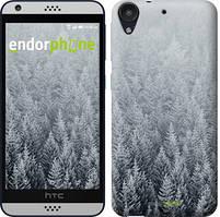 "Чехол на HTC Desire 530 Заснеженные елки ""4187c-613-535"""