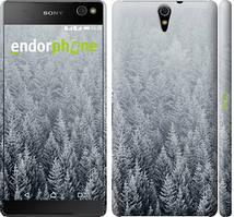 """Чехол на Sony Xperia C5 Ultra Dual E5533 Заснеженные елки """"4187c-506-535"""""""