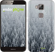 "Чехол на Huawei G8 Заснеженные елки ""4187c-493-535"""