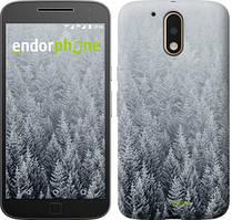 """Чохол на Motorola MOTO G4 PLUS Засніжені ялинки """"4187c-953-535"""""""