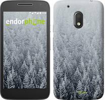 """Чехол на Motorola Moto G4 Play Заснеженные елки """"4187c-860-535"""""""