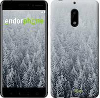 """Чехол на Nokia 6 Заснеженные елки """"4187c-898-535"""""""
