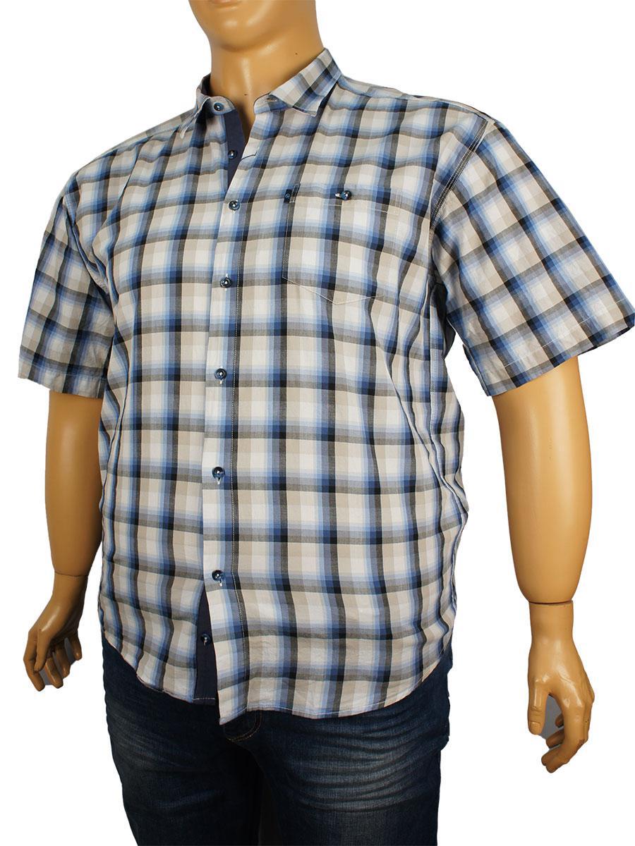 Рубашка Negredo большого размера 0340 indigo (Л) хлопковая  размер 5XL