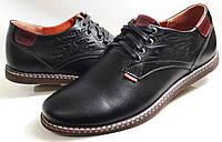 Мужские Осень-Весна Кожаные кроссовки туфли Levis model LS Black Польша, фото 1