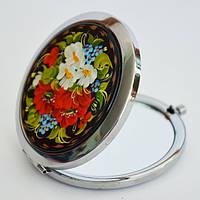 Карманные зеркала. Украинский сувенир. Петриковская роспись.