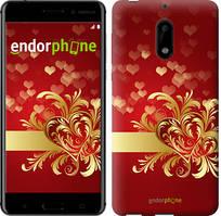 """Чехол на Nokia 6 Ажурные сердца """"734c-898-535"""""""