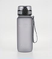 Бутылка для воды Uzspace: 650 мл. Цвет: Серый