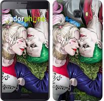 """Чохол на Samsung Galaxy C9 Pro Зоряне небо """"167u-720-535"""" Джокер і Харлі Квінн v2 , Синій"""