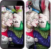 "Чехол на HTC Desire 830 Звёздное небо ""167c-785-535"" Джокер и Харли Квинн v2 , Синий"