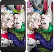 "Чехол на Lenovo Vibe P2 Звёздное небо ""167c-792-535"" Джокер и Харли Квинн v2 , Синий"