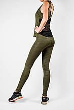 Жіночий спортивний комплект хакі еластан/камуфляж
