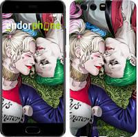 """Чохол на Huawei P10 Plus Зоряне небо """"167u-963-535"""" Джокер і Харлі Квінн v2 , Синій"""