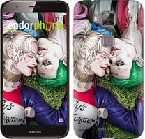 """Чехол на Huawei G8 Звёздное небо """"167c-493-535"""" Джокер и Харли Квинн v2 , Синий"""