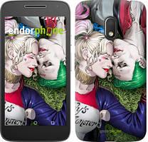 """Чехол на Motorola Moto G4 Play Звёздное небо """"167c-860-535"""" Джокер и Харли Квинн v2 , Синий"""