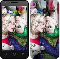 """Чехол на ALCATEL One Touch Pixi 3 4.5 Звёздное небо """"167u-408-535"""" Джокер и Харли Квинн v2 , Синий"""