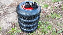 Комплект резиновых колес диаметром 26 см для детского электромобиля