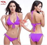 Красивый купальник молодежный код V032 (фиолетовый)
