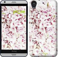 "Чехол на HTC Desire 530 Звёздное небо ""167c-613-535"" Сирень 3 , Белый"