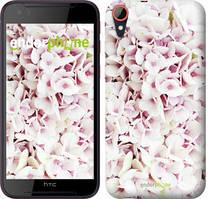 "Чехол на HTC Desire 830 Звёздное небо ""167c-785-535"" Сирень 3 , Белый"