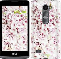 """Чехол на LG Leon H324 Звёздное небо """"167c-403-535"""" Сирень 3 , Белый"""