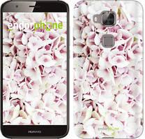 "Чехол на Huawei G8 Звёздное небо ""167c-493-535"" Сирень 3 , Белый"