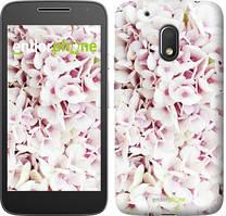 """Чехол на Motorola Moto G4 Play Звёздное небо """"167c-860-535"""" Сирень 3 , Белый"""