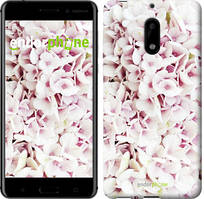 """Чехол на Nokia 6 Звёздное небо """"167c-898-535"""" Сирень 3 , Белый"""