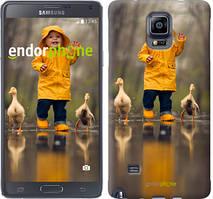 """Чехол на Samsung Galaxy A8 Plus 2018 A730F Ребенок с утками """"4047u-1345-535"""""""
