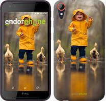 """Чехол на HTC Desire 830 Ребенок с утками """"4047c-785-535"""""""