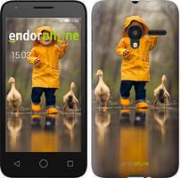 """Чехол на ALCATEL One Touch Pixi 3 4.5 Ребенок с утками """"4047u-408-535"""""""