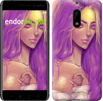 "Чехол на Nokia 6 Звёздное небо ""167c-898-535"" Принцесса Пупырка. Adventure Time. Lumpy Space Princess v4 , Розовый"
