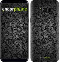 """Чехол на Samsung Galaxy S9 Чёрно-серые листья """"843c-1355-535"""""""
