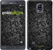 """Чехол на Samsung Galaxy A8 Plus 2018 A730F Чёрно-серые листья """"843u-1345-535"""""""