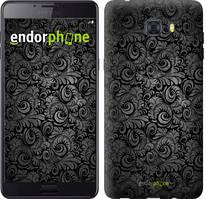 """Чохол на Samsung Galaxy C9 Pro Чорно-сірі листя """"843u-720-535"""""""