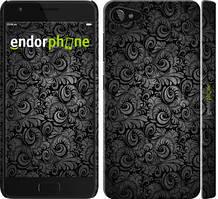 """Чехол на Lenovo ZUK Z2 Чёрно-серые листья """"843c-827-535"""""""