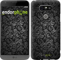 """Чехол на LG G5 H860 Чёрно-серые листья """"843c-348-535"""""""