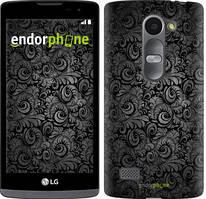 """Чехол на LG Leon H324 Чёрно-серые листья """"843c-403-535"""""""