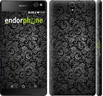 "Чехол на Sony Xperia C5 Ultra Dual E5533 Чёрно-серые листья ""843c-506-535"""
