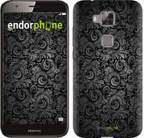 """Чехол на Huawei G8 Чёрно-серые листья """"843c-493-535"""""""