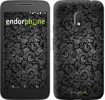 """Чехол на Motorola Moto G4 Play Чёрно-серые листья """"843c-860-535"""""""