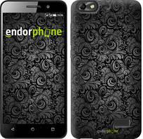 """Чехол на Asus ZenFone 4 Max ZC520KL Чёрно-серые листья """"843u-1242-535"""""""