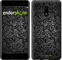 """Чехол на Nokia 6 Чёрно-серые листья """"843c-898-535"""""""