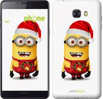 """Чохол на Samsung Galaxy C9 Pro Міньйони. Різдво """"1485u-720-535"""""""