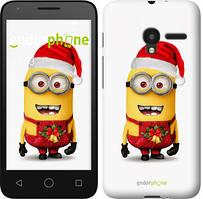 """Чехол на ALCATEL One Touch Pixi 3 4.5 Миньоны. Рождество """"1485u-408-535"""""""