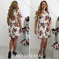 Женское модное платье с цветочным принтом Батал