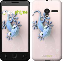 """Чехол на ALCATEL One Touch Pixi 3 4.5 Гекончик """"1094u-408-535"""""""