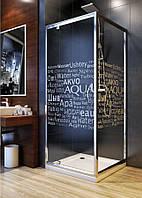 Aquaform NIGRA: Распашная дверь для монтажа в нише или со стенкой для квадратной душевой кабины